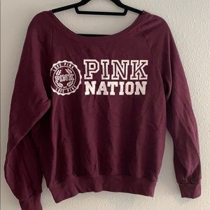 Maroon Pink Nation sweater!!